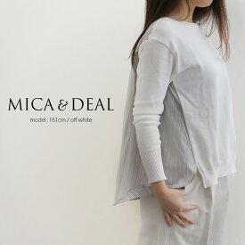 【40%★OFF】【2019SS】MICA&DEAL マイカアンドディール バックストライププルオーバー M19A016【RCP】