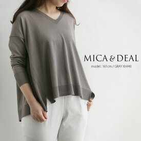 【40%★OFF】MICA&DEAL マイカアンドディール Vネックルーズプルオーバー M19A013【RCP】