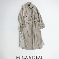 【2019AW】MICA&DEALマイカアンドディールバックタックトレンチコートM19C189【RCP】