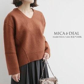 【60%★OFF】MICA&DEAL マイカアンドディール Vネックルーズニット M17D177-E【RCP】