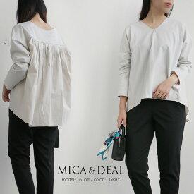 【2020SS】MICA&DEAL マイカアンドディール バックタックVネックプルオーバー M20A012【RCP】