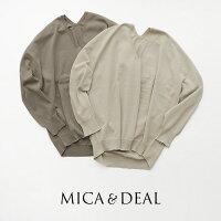 【2020SS】MICA&DEALマイカアンドディールホールガーメントVネックプルオーバーM20A016-1【RCP】