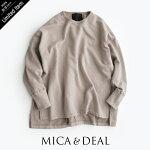 "【2020AW】MICA&DEAL×MMN【別注アイテム】マイカアンドディール""Mica&Deal""ロゴ刺繍ワイドスウェット012040921301-B【RCP】"
