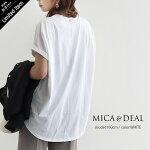 【2021SS】MICA&DEAL×MMN【別注アイテム】マイカアンドディールヘムラウンド無地Tシャツ0121209125【RCP】
