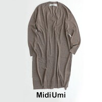 【2019AW】MidiUmiミディウミウールVネックワンピース4-757912【RCP】