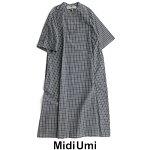 【2020SS】MidiUmiミディウミチェックスキッパーフレアワンピース1-758057【RCP】