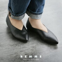 【2019AW】REMMEレメ深Vカットパンプス7012【RCP】