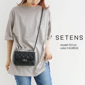 【50%★OFF】【2021SS】SETENS セテンス チュニックTシャツ E211TO142【RCP】