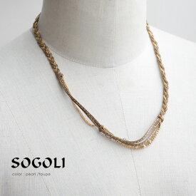 【50%★OFF】SOGOLI ソゴリ チェーンネックレス NCM60【RCP】