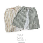 【2019SS】【kids】SWAPMEETMARKETスワップミートマーケットストライプレーヤード膝丈スカート2292801【RCP】