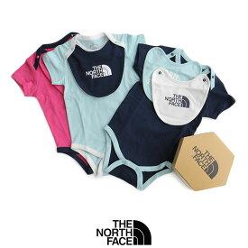 【2020SS】【kids】THE NORTH FACE ザ・ノースフェイス S/S Rompers &2P Bib ショートスリーブロンパース&2Pビブ(ベビー) NTB11969【RCP】半袖 スタイ