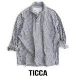 【2019SS】【送料無料】TICCAティッカSOMELOSスクエアビッグシャツプルオーバー(チェック/ストライプ)TAIS-032【RCP】