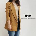 【2019SS】【送料無料】TICCAティッカダブルボタンソフトジャケットTAIS-151【RCP】