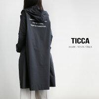 【2019SS】【送料無料】TICCAティッカバックロゴ入りフードチェスターレインコートTAIS-181【RCP】