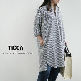 【2020SS】TICCA ティッカ スクエアビッグロングシャツプルオーバー TBKS-014【RCP】