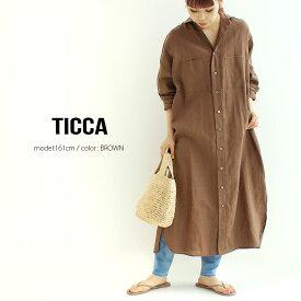 【2021SS】TICCA ティッカ ダブルポケットロングシャツ TBAS-405【RCP】