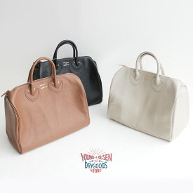【2020SS】Young&OLSEN ヤングアンドオルセン EMBOSSED LEATHER BOSTON S エンボスレザーボストンバッグ(S) YO2001-GD005【RCP】