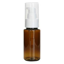 ecoペットボトル50ml+ポンプ/1個化粧水 トナー 容器 茶色 詰め替え 容器 アトマイザー 手作り コスメ 化粧品 化粧水