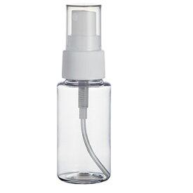 【10個まで/ボトルのみの購入不可】クリアプラボトル・スプレー[50ml]/1個 アルコール用 プッシュ化粧水 トナー 容器 透明 詰め替え アトマイザー 手作り コスメ 化粧品 アロマスプレー プラスチック 小分け