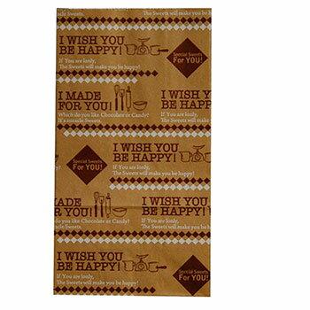 【メール便182円】スクエアバックM ナチュラルスイーツ/1個ラッピング 紙袋 石鹸 手作り プレゼント ギフト お弁当 お菓子 サンドイッチ 石けん