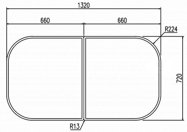 LIXIL(リクシル) INAX 風呂フタ・風呂ふたYFK-1475B(2)-K ・カラー ホワイト