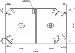 TOTO 浴室関連器具 ふろふた●いものホーローバス 2枚 1490×880mm PCF1500R#NW1風呂ふた・風呂フタ・フロフタ