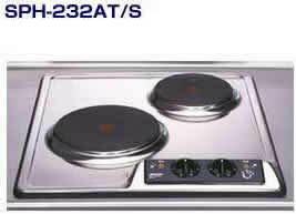 三化工業プレートヒーターSPH-232S●200Vタイプ●プレート2口タイプ(上面操作タイプ)