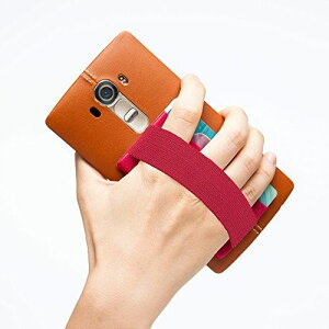 Sinjimoru カードケース 携帯ストラップ スマホ落下防止 SUICA, PASMO, ICOCA カードケース ハンドストラップ スマホストラップ スマホケース (ダークレッド)