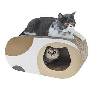 ComSaf 猫 つめとぎ トンネル 爪とぎ 段ボール 大型 猫ハウス 猫ベッド 58×25.4×25.4cm(幅X奥行X高さ) トンネル型x1個