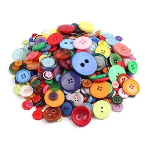 手芸 用 ミックスカラー 大 中 小 混合 ボタン 600個 セット ソーイング アクセサリーパーツ DIY 材料