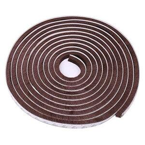 隙間テープ 窓 ドア 防風 防音 防水 防虫 毛足 5m ブラウン 隙間 対策 テープ