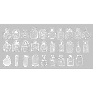 おしゃれ PET 透明 ボトル 型 シール 210枚 可愛い 香水 瓶 ステッカー 手帳 カレンダー 装飾 デコ シール ギフト 包装