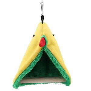 インコブランコ バードトイ ぬいぐるみ 安心ハウス 三角型 バードスイング 鳥 おもちゃ 止まり木 可愛い鳥のようなデザイン 明るい色 綺麗 安全 無臭 吊り下げ 小鳥 ストレス解消 鳥用知育