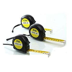 NUZAMAS 3本の測定テープセット25フィート(7.5m)、16フィート(5m)、10フィート(3m)の引出し可能なヘビーデューティ、メトリック、インチおよびインペリアル測定 - 建設、請負業者、DIYイ