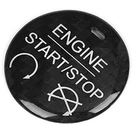 Duokon 左ハンドル車 カーボンファイバー スタートストップボタントリムデコレーション フォードマスタング2015-2019に適合