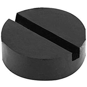 YOSOO ジャッキゴム ジャッキパッド 車用ジャッキパッド 修理用ジャッキゴム 高度増加 溝付きフレーム 直径6.3CM スリップ防止 耐摩耗 リフトアップ用ゴム 自動車・機械用パッド ブラック