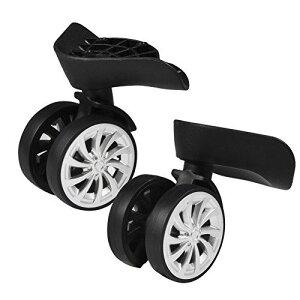 Dooti2PCSセットスーツケース用交換タイヤスーツケースホイール交換ホイール360度回転耐磨耗性静かスムーズショッピングカート/スーツケース/キャリーボックスなどの車輪補修用
