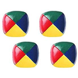 ジャグリングボール、4個入りサーカスピエロゲームPuおもちゃボール、多色