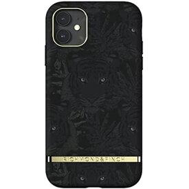 [Richmond and Finch] iPhone 11 ケース おしゃれ プレミアム デザイン かっこいい スウェーデンの 人気 ブランド かわいい おもしろ カバー (iPhone11 ブラックタイガーXゴールド)
