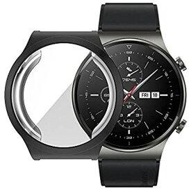 Miitech HUAWEI Watch GT2 Pro ケース 保護カバー TPUケース PC素材 軽量超簿 耐衝撃性 脱着簡単(ブラック) HUAWEI Watch GT 2 Pro 専用 ケース
