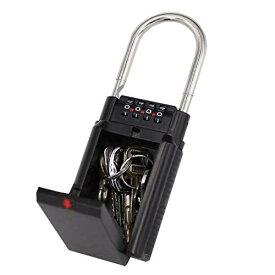 鍵収納ボックス 防犯グッズ ロックポケット 南京錠 キーBOX 4桁ダイヤル式 鍵の保管・受け渡しに安全 使いやすい