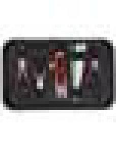 PandaHall 8点セット 手芸用品 手作りツール 糸切ハサミ ペンチ ラジオペンチ 丸ペンチ ニッパー 指ぬき ピンセット 目打ち 収納ケースつき アクセサリー キット ブラック 155x110x35mm