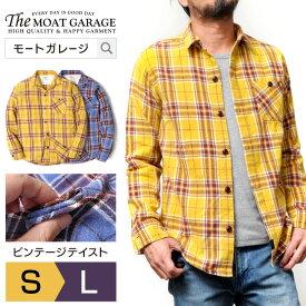 dba72a82c0b54 ネルシャツ メンズ 長袖 | チェックシャツ イエロー ブルー S M L おそろい ペア おしゃれ かっこいい おすすめ コーデ 人気