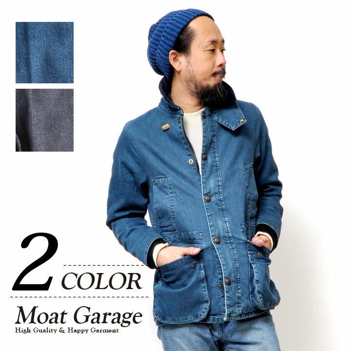 HOUSTON ハンティングジャケット メンズ 秋冬用 デニム ブルー ネイビー 50630 S-XL