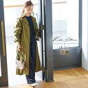 [ 田中亜希子さんコラボ ] ナイロンロングトレンチコート [K1016]【入荷済】レディース アウター 羽織 大人 おしゃれ …