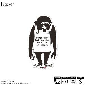 バンクシー ステッカー グッズ クリアステッカー Sサイズ BNK-007S【4067】Do Nothing Monkeysign BRANDAL ISED 透明ステッカー グラフィティ アート アーティスト 耐水 耐光ゼネラルステッカー