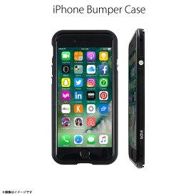 iPhone SE 第2世代 2020 iPhone 8 バンパー GZ9416i7【4166】 GAZE Razor Fitt アルミニウムバンパー フレーム メタリック バックプレート付き ブラック 取り付け簡単ロア・インターナショナル【メール便送料無料】