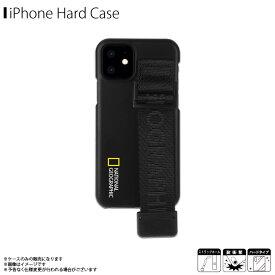 iPhone12 mini ケース ハードケース NG19612i12【6128】National Geographic ブランド Strap Signature ハンドストラップ付き 落下防止 ロゴ ブラックロア・インターナショナル【メール便送料無料】