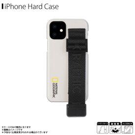 iPhone12 mini ケース ハードケース NG19613i12【6135】National Geographic ブランド Strap Signature ハンドストラップ付き 落下防止 ロゴ ホワイトロア・インターナショナル【メール便送料無料】