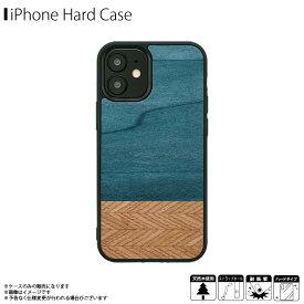 iPhone12 iPhone12 Pro ケース ウッドケース I19255i12P【2557】 Man&Wood 天然木 ハードケース ストラップホール付き デニム Denimロア・インターナショナル